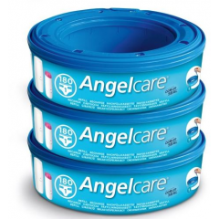 Angelcare - dress up pack de 3 recharges rondes pour poubelle a couche