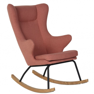 Quax - rocking adult chair de luxe fauteuil allaitement soft peach