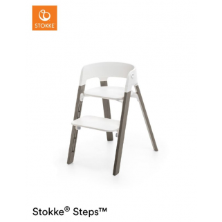 Stokke - chaise steps blanc/gris brume