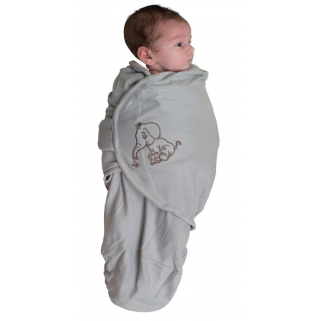Bo jungle – couverture d emmaillotage b-wrap small elephant grey