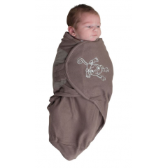 Bo jungle – couverture d emmaillotage b-wrap small monkey taupe