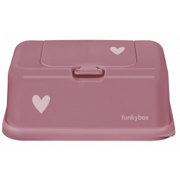 Funkybox - boite a lingettes rose punch coeur