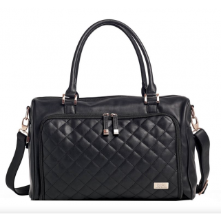 Isoki  -  sac a langer double zip quilted ebony black quilted