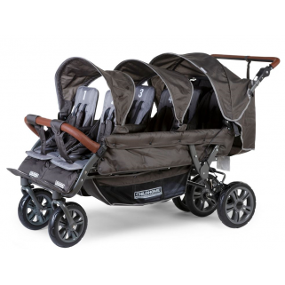 Childhome - poussette  six seater autobrake anthracite 6 enfants +rc+sc