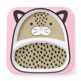 LIMITED - SKIP HOP - ZOO ASSIETTE A COMPARTIMENT LEOPARD