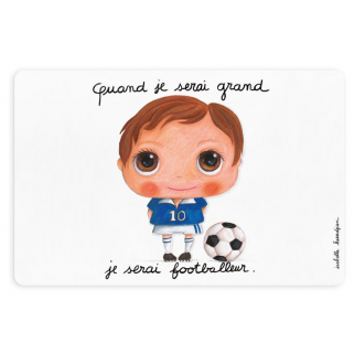 LIMITED - LABEL TOUR - SET DE TABLE QUAND JE SERAI GRAND JE SERAI FOOTBALLEUR