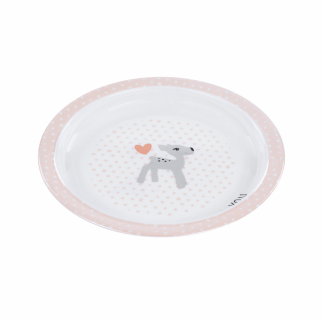 LIMITED - LASSIG - ASSIETTE MELAMINE ANTI-DERAPANTE LELA LIGHT PINK