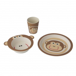 LIMITED - PERICLES - COFFRET REPAS BAMBOO SINGE/MONKEY
