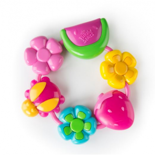 Bright starts - buggie bites teether pink anneau de dentititon