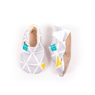 Titot-chaussons  grey triangles 0-3 m