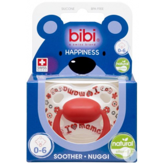 Bibi - i love mama / papa is the best sucette hp 0-6m natural