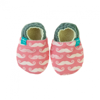 Titot-chaussons  pink mustache 18-24 m