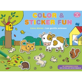 Chantecler - color & sticker fun - gentils animaux