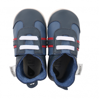 Bobux - soft soles - sport navy/rouge - s