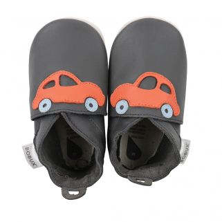 Bobux - soft soles - voiture de sport gris/orange - s