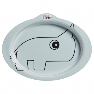 Done by deer - contour bleu assiette  plate anti-derapante