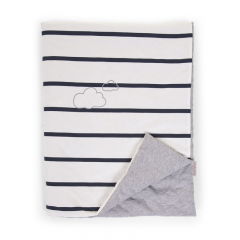 Childhome - jersey marin couverture 80x100cm
