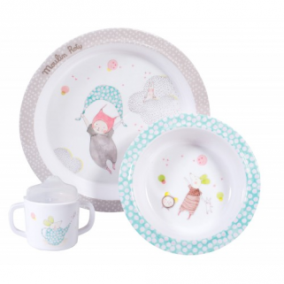 Limited - moulin roty - les petits dodos coffret repas