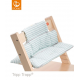 Limited - stokke - coussin tripp trapp rayures aqua