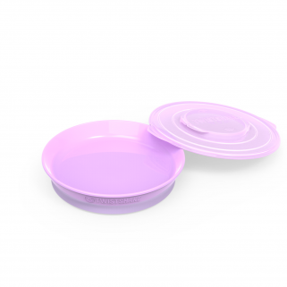 Limited - twistshake - assiette pastel purple