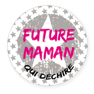 "Limited - bb&co - badge 56 mm ""future maman"""