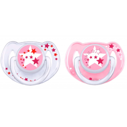 Limited - avent - sucettes silicone-nuit rose(2) 6-18m