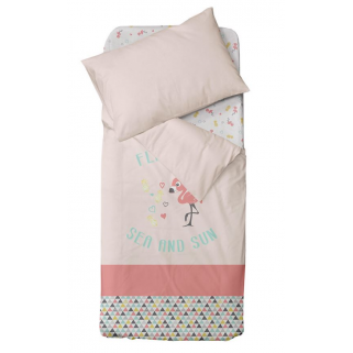 Limited - domiva – flamingo housse couette 100x140cm+ taie