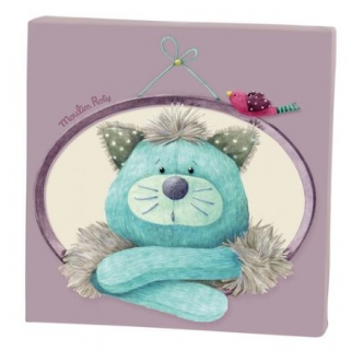 Limited - moulin roty - les pachats cadre toile parme gros chacha 20 x 20