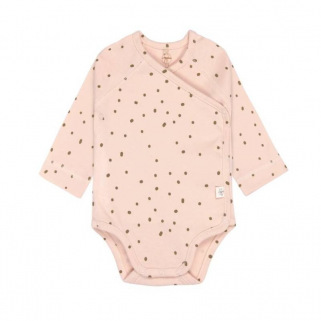 Cozy colors - body manches longues gots - Dots powder pink