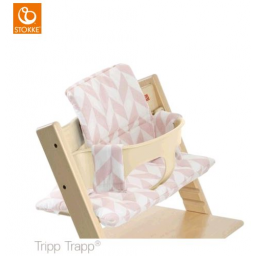 Limited - stokke - coussin tripp trapp chevrons rose