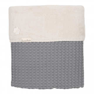 Limited - koeka - couverture lit cage oslo teddy steelgrey/pebble