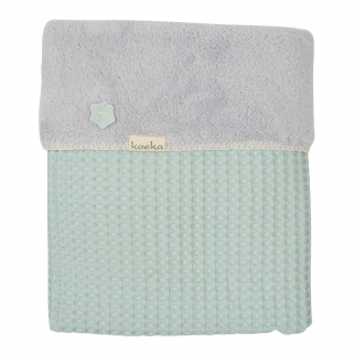 Limited - koeka - couverture lit cage oslo teddy misty mint/silver grey