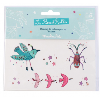 Limited - les broc'n rolls tatouages oiseaux - Moulin roty