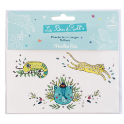 Limited - les broc'n rolls tatouages animaux sauvages - Moulin roty