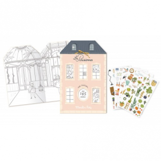 Limited - les parisiennes cahier stickers - Moulin roty - 20 pages