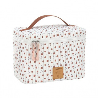 Casual baby beauty case nursery caddy to go - Lassig - ORIGINAL - Fleurs Blanches (Flowers White)