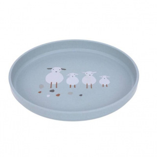 Assiette pp cellulose tiny farmer - Lassig - Blue