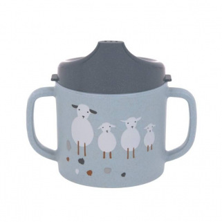 Tasse avec couvercle sippy cup pp cellulose tiny farmer - Lassig - - Blue