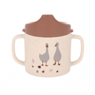 Tasse avec couvercle sippy cup pp cellulose tiny farmer - Lassig - - ORIGINAL - Nature