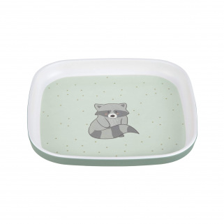 Assiette Lassig en silicone about friends - Raccoon