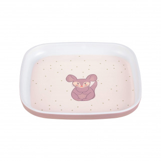 LASSIG - ASSIETTE MELAMINE SILICONE ABOUT FRIENDS RACOON - Chinchilla