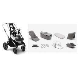 Limited - bugaboo - fox  chassis base+alu+style set gris clair