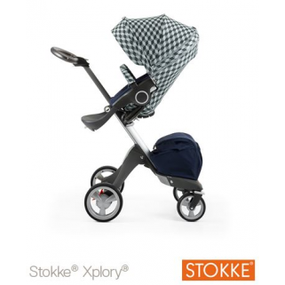 Assise poussette Stokke style kit - Gris cube