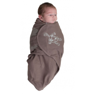 Couverture d'emmaillotage Bo Jungle B-Wrap - ORIGINAL - Taupe Singe (Small Monkey - Taupe)