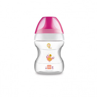 Tasse d'apprentissage learn to drink cup 190 ml  Mam - Rose