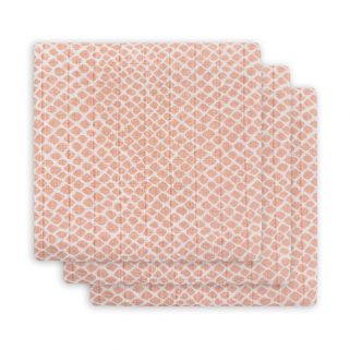 Lot de 3 couches hydrophile Jollein small 70x70 cm - Snake Pale Pink