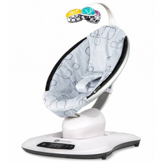 Relax/balancelle 4moms MamaRoo 4 - LUXE – Argentée (Silver Plush)