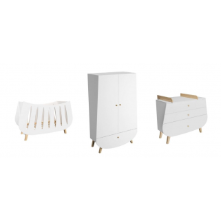 Prix pack chambre magali Sweetnight lit + commode + plan a langer + armoire