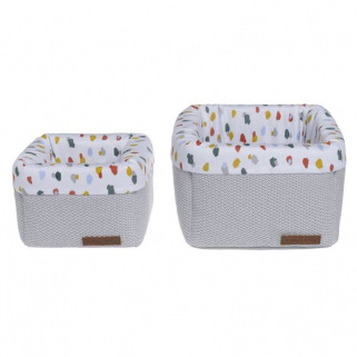 Baby's only - paniers de commode leaf gris argent