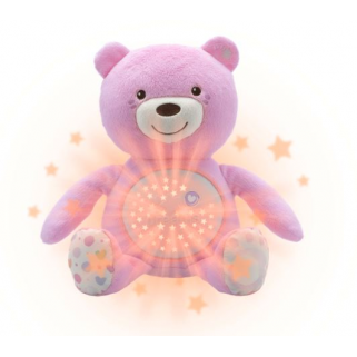 Projecteur Chicco peluche ourson baby bear  first dream - Rose
